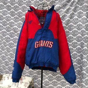Reebok Giants Authentic NFL Proline coat